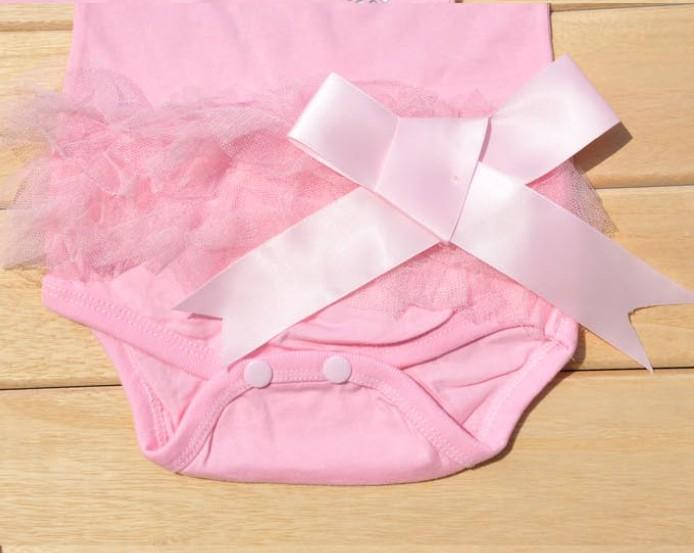 New Baby Girls Bodysuit One Piece Princess Dress Kids T Shirt Dress Set H005