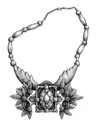 Dragonlance Illustration Flints Necklace Dnd Fantasy