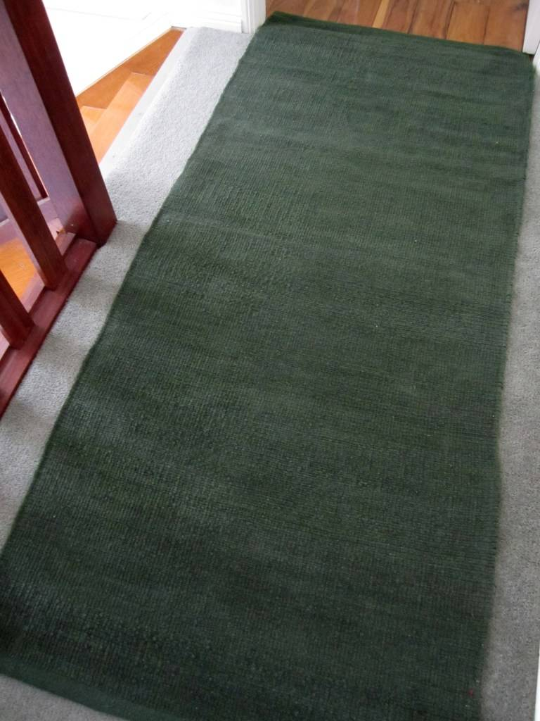 Rug Runner Modern Cotton Chenille Plain Solid Long Hall