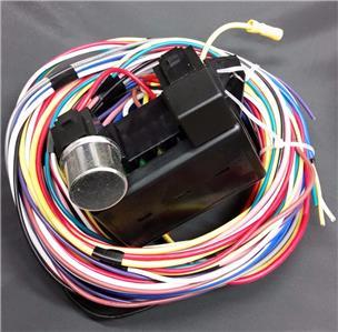 street rod wiring harness kit universal 15 circuit street rod wiring wire harness kit ...