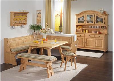 Fuessen Farmhouse Furniture, Cottage Dining Set, Breakfast Nook, Corner  Bench