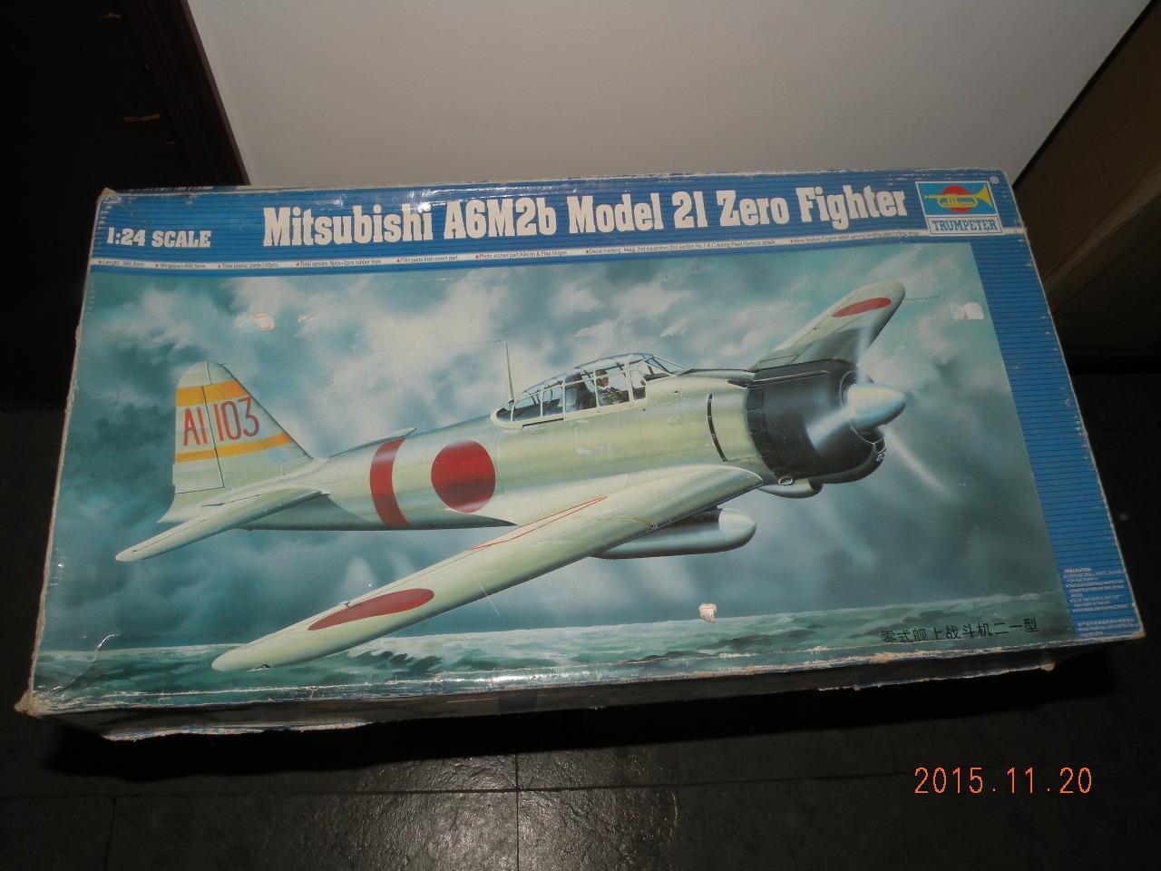 Trumpeter 02405-1:24 Mitsubishi A6M2b Zero Typ 21 Neu