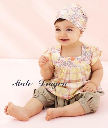 New Baby Girls 3 Pcs Kids T Shirt Short Pants Headband Set Clothes Size 0 3years
