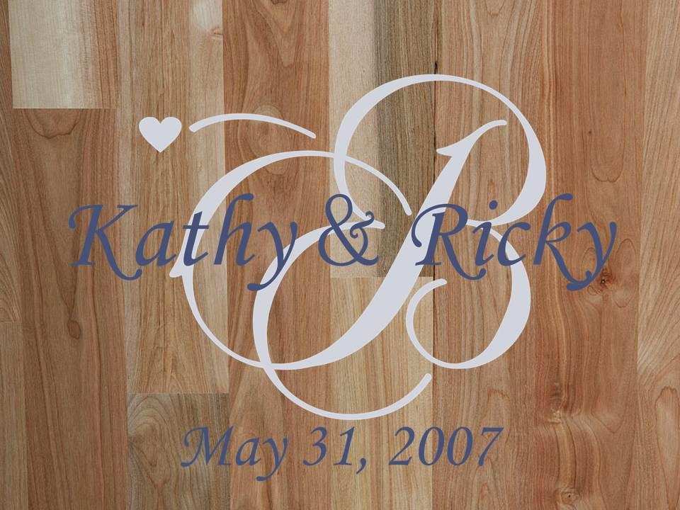 Personalized Wedding Family Monogram Vinyl Wall Art Decal & Personalised Wall Art Stickers - Elitflat