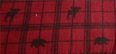 New Bear Moose Red Lodge Cabin Flannel Sheets King Ebay