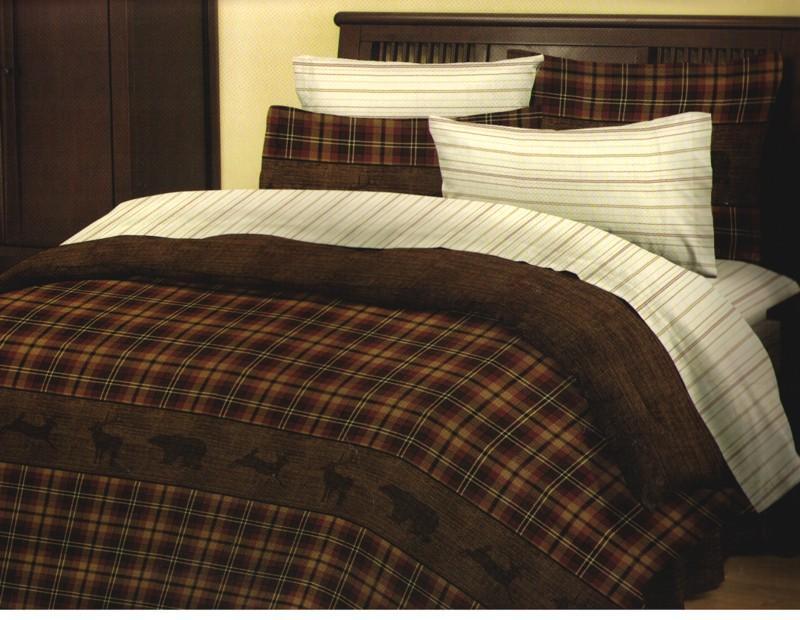New Bear Deer Lodge Cabin Comforter Set W Sheets King Full