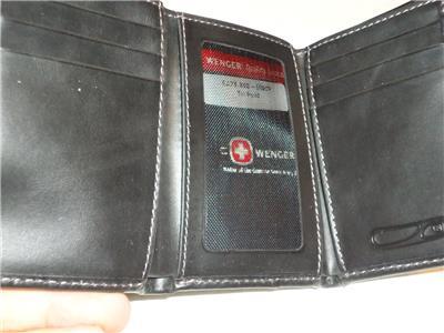 Swiss Army Genuine Leather Seattle Trifold Wallet Black Ebay