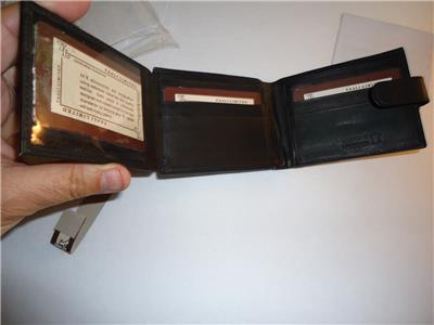 Snap Tab Billfold Genuine Leather Billfold Wallet,Black-SEE DESCRIPTION FOR PICS