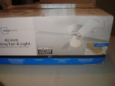 Mainstays 42 Quot Ceiling Fan Amp Light Reverses From White To