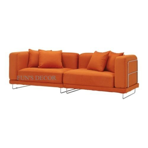 new ikea tylosand 3 seat sofa couch cover slipcover everod orange ebay. Black Bedroom Furniture Sets. Home Design Ideas