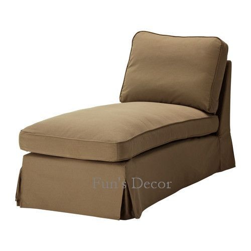 NEW IKEA EKTORP Right Chaise Lounge Cover Slipcover Idemo Beige