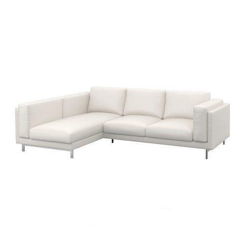 Prime Details About Ikea Nockeby 3 Seat Sectional Left Chaise Couch Cover Slipcover Risane White Machost Co Dining Chair Design Ideas Machostcouk