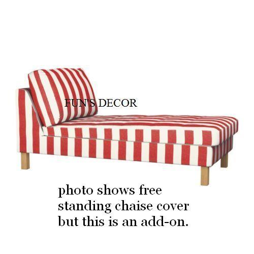 White NEW Add On Rannebo Red KARLSTAD Chaise KARLSTAD Cover