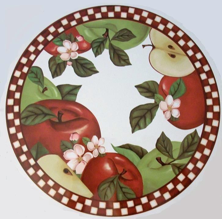 Apple Home Decor: APPLE FRUIT COUNTRY KITCHEN STOVE BURNER COVER HOME DECOR