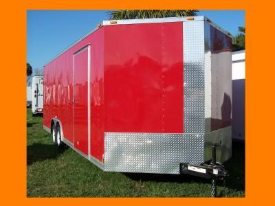 New 8 5x24 5200 Tandem Diamond Cargo Trailer Enclosed Car