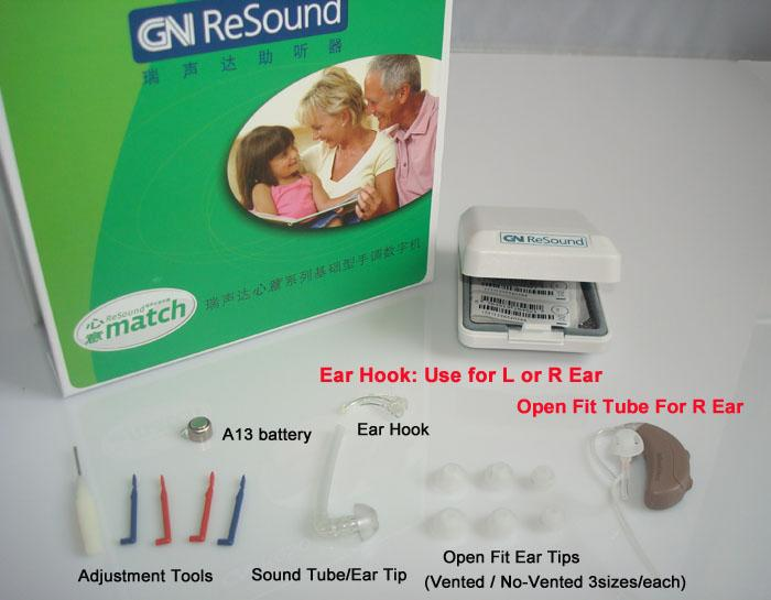 Gn Resound Match Open Fit Hearing Aids Right Ear High