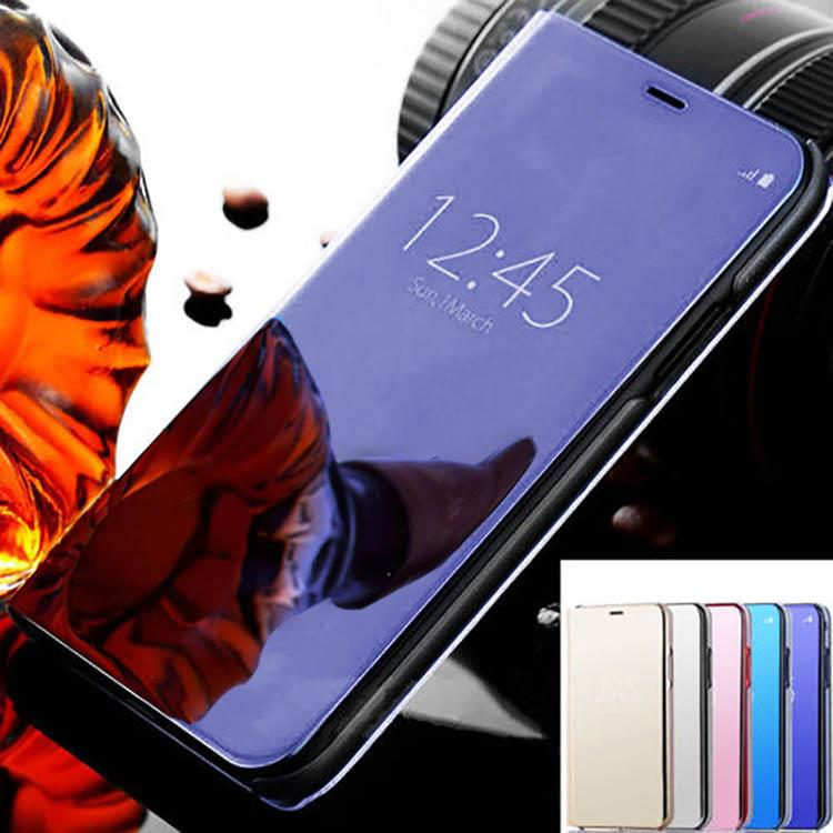 competitive price 26d37 9b45e Details about Clear Smart View Mirror Leather Flip Stand Case Cover For  iPhone Xs X 8 7 Plus 6