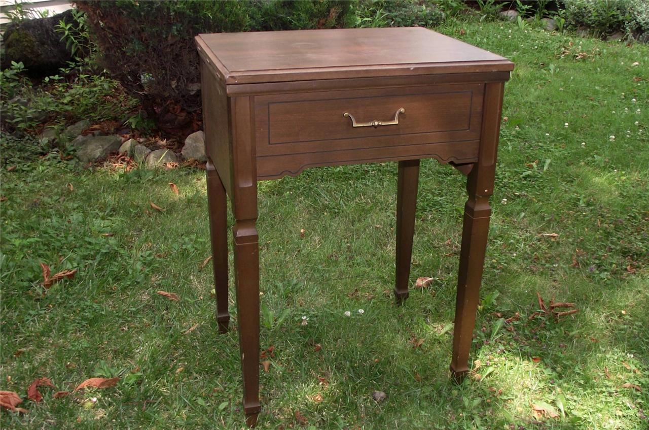 Vtg Kenmore Sewing Machine old wooden cabinet fits model ...