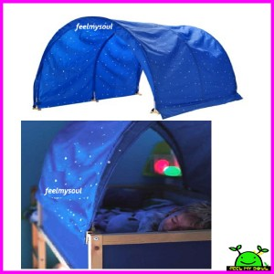 Ikea Children S Bed Tent Canopy Cover Blue New Ebay