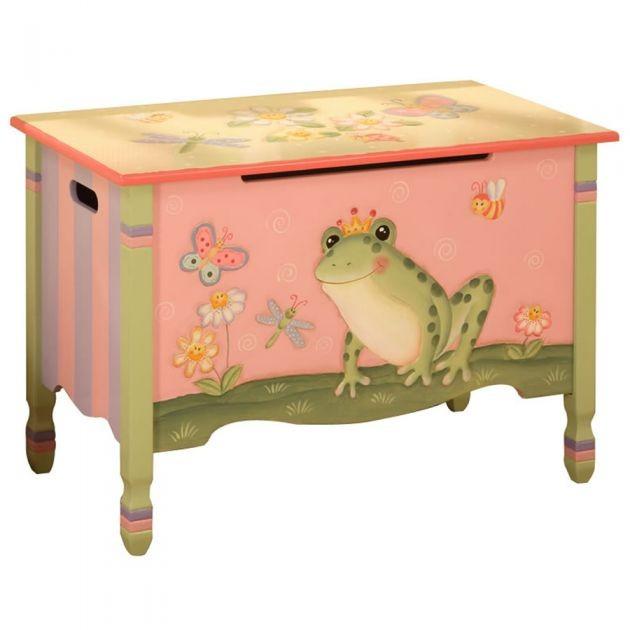 Kids Storage Cube Organizer Toy Box Kids Bedroom Furniture: Teamson Magic Garden Toddler Kids Girls Bedroom Furniture