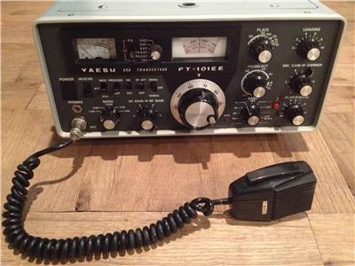 great yaesu ft 101ee tranceiver amp microphone ham radio. Black Bedroom Furniture Sets. Home Design Ideas