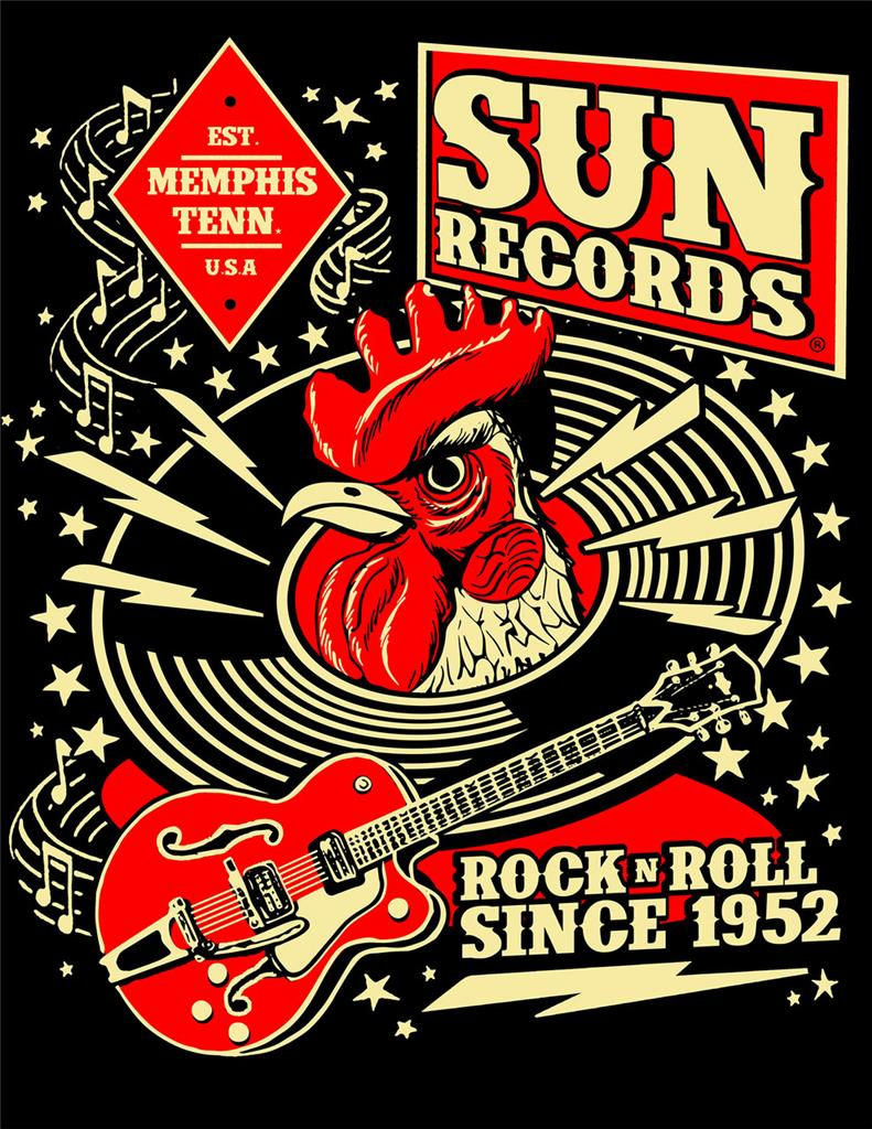 sun records button shirt rock n roll since rockabilly hot. Black Bedroom Furniture Sets. Home Design Ideas