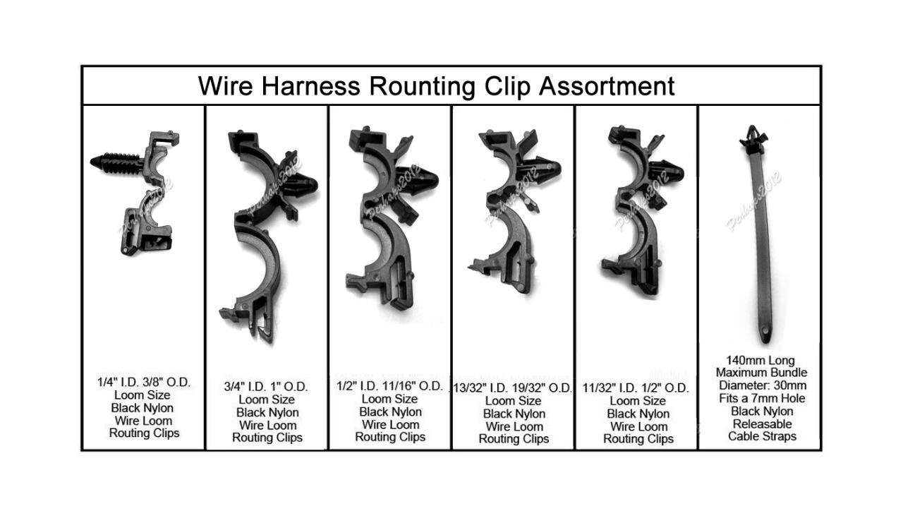 rib harness clip wiring 54x wiring harness wire loom routing clips assortment ... wiring harness clip 90016