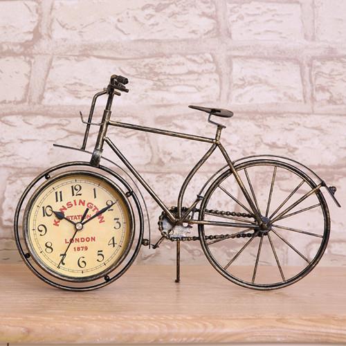Bicycle Home Decor: New Vintage Bicycle Clock Metal Bike Home Decor Table