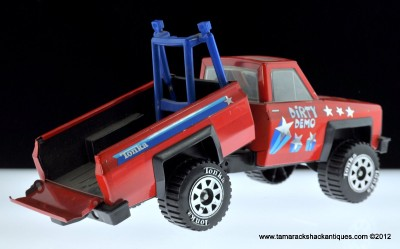 Dirty Demo Tonka 1983 Pressed Steel Red Chevy Truck Dump Box Bed Drop Tailgate