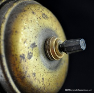 Vintage Brass Underwriters Laboratories Portable Student