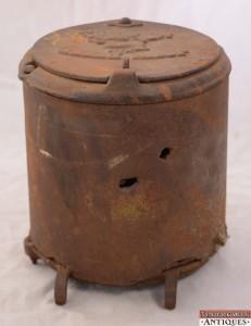 Antique John Deere Tractor Seeder Box Moline Illinois Ill