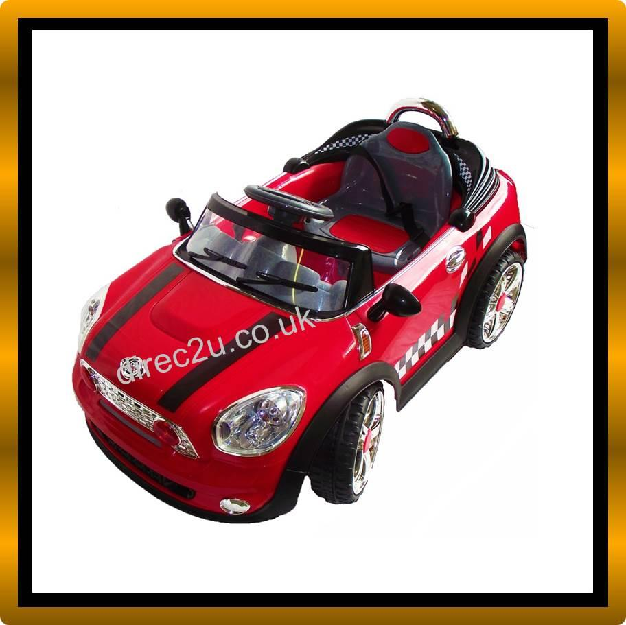 Kids Mini Cooper S Electric Ride On Car, Remote Control