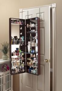 Mirror Cosmetic Organizer Make Up Organizer Armoire Over