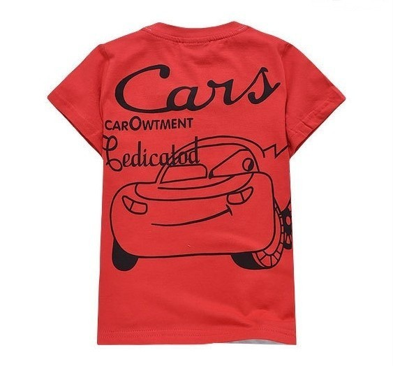 Toddlers Kids Boys Girls Cars Lightning McQueen T Shirt Jean Shorts Suits 2 8Y