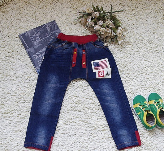 Vogue Toddlers Kids Boys Girls Flag Harem Pants Jeans Aged 2 7Years
