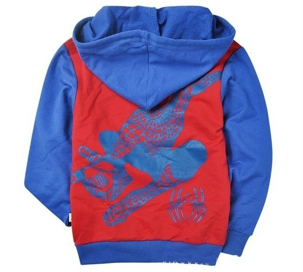 Toddlers Kids Boys Girls Funny Spider Man Zipper Hoodies Clothes Aged 2 8years