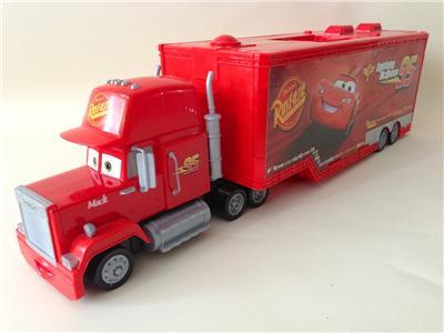 Disney Pixar Cars Mack Truck Hauler Carry Case With 9 Cars