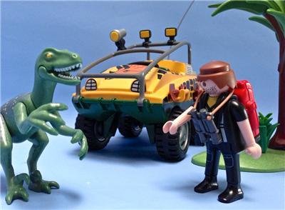 playmobil safari dinosaur jeep and figures play set ebay. Black Bedroom Furniture Sets. Home Design Ideas