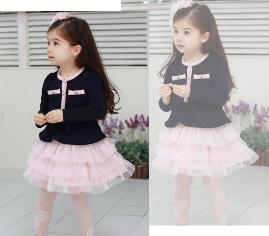 Toddler Girls Long Sleeve Tutu Skirt Wedding Party Pageant Kids Dress 6 7Y