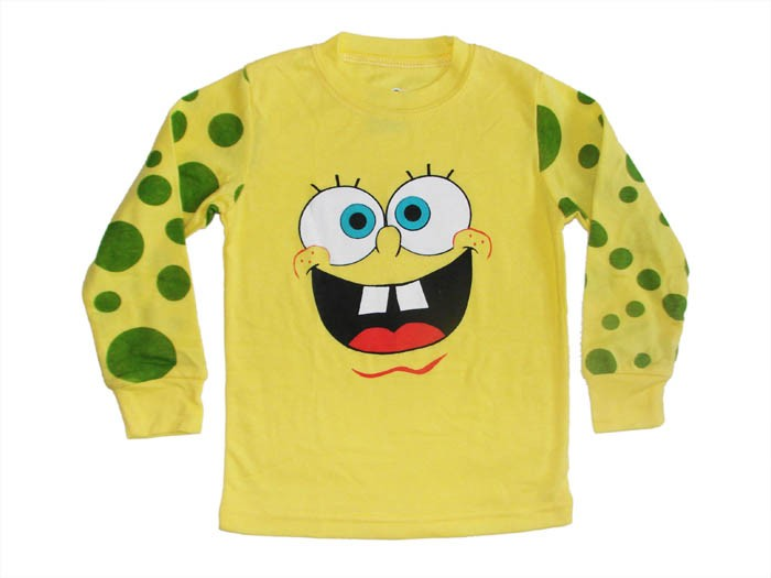 "Girls Baby Clothes Kids Boys' Sleepwear ""Spongebob Squarepants""Pajamas Suit 3T"