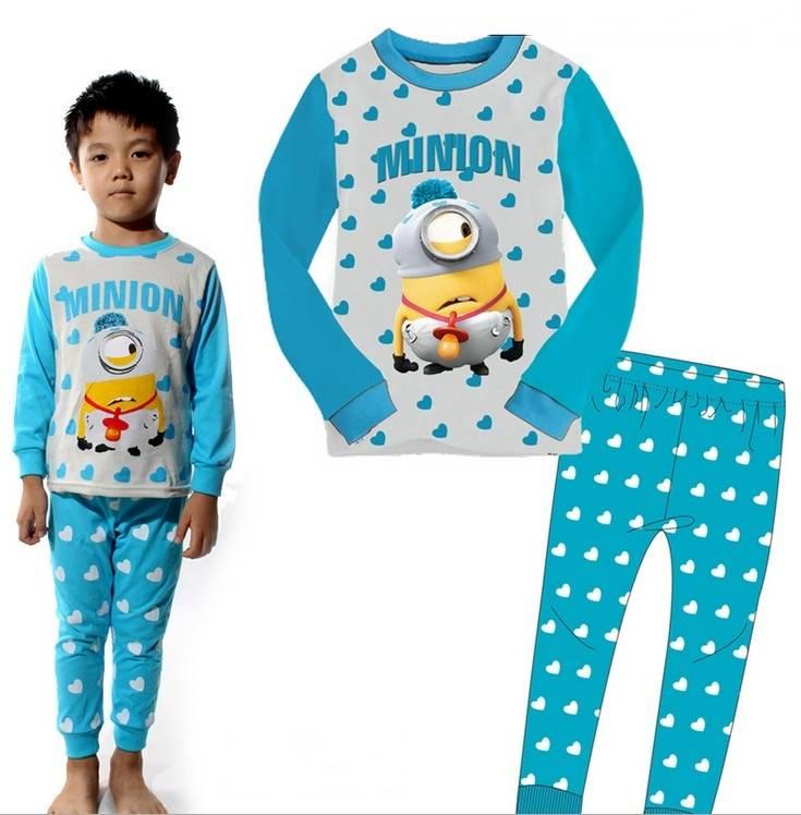 "Baby Kids Boys Girls Suit Sleepwear ""Minions Despicable Me"" Pajama Set Gift 2pcs"