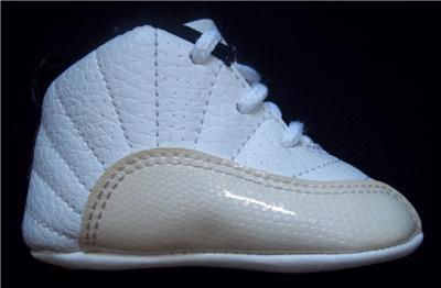 Infant Baby Boy Nike Air Jordan Crib Atletic Shoes White ...