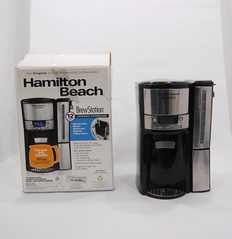 Hamilton Beach Brewstation Programmable 12 Cups Grounds Coffee Maker