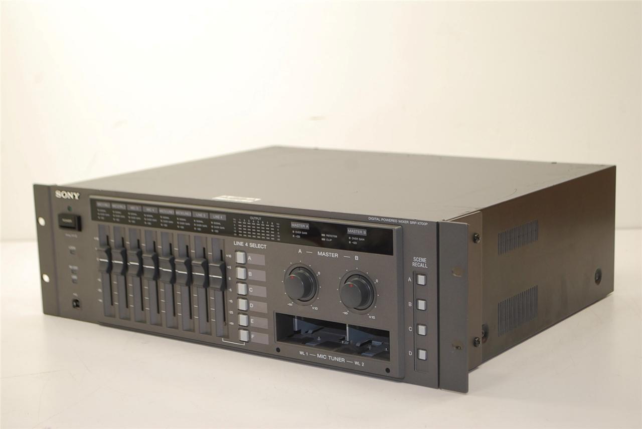 sony srp x700p digital powered mixer rack mount pro audio. Black Bedroom Furniture Sets. Home Design Ideas