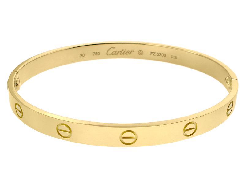 25ddb2991e255 White Gold Bracelets: Real Cartier Love Bracelet