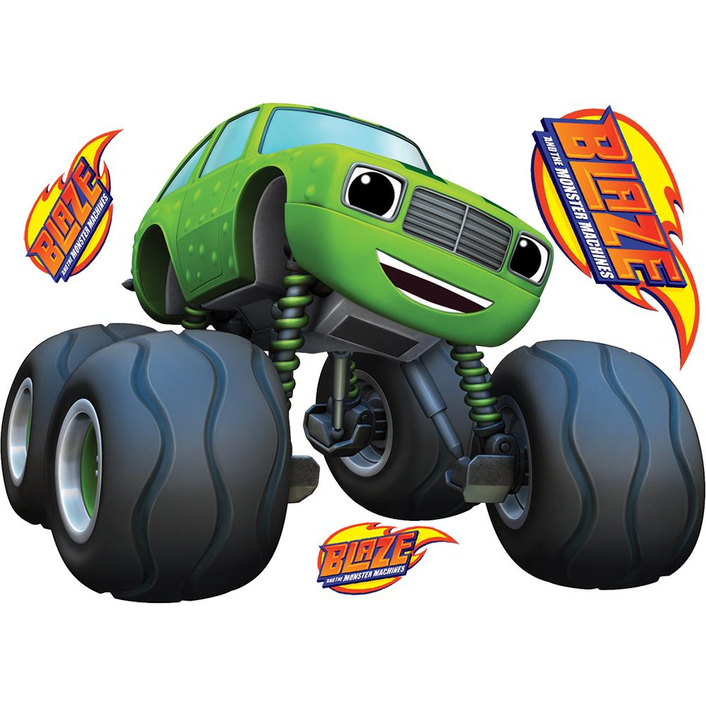 Monster High Ebay >> Blaze and the Monster Machines Pickle mini monster truck Wall Sticker Removable | eBay