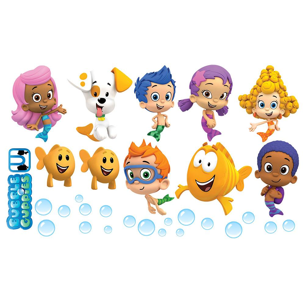 Bubble Guppies Wall Sticker Gil Molly Goby Deema Oona ...