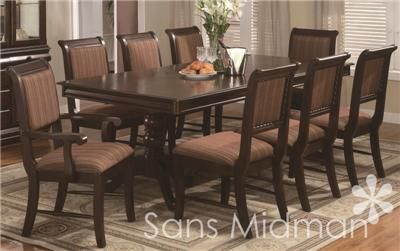 This Listing Is For A Complete Bordeaux Dining Room Set: Table W/leaf, 2  Arm Chairs, 4 Side Chairs And A Buffet/China Hutch.