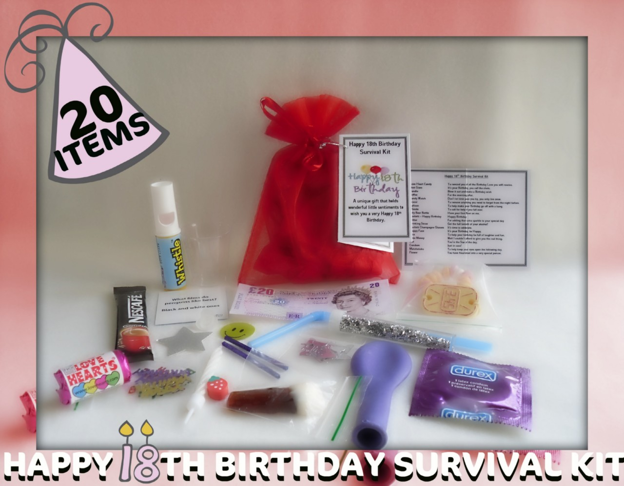 Image Is Loading Happy 18th Birthday Novelty Survival Kit An Unusual