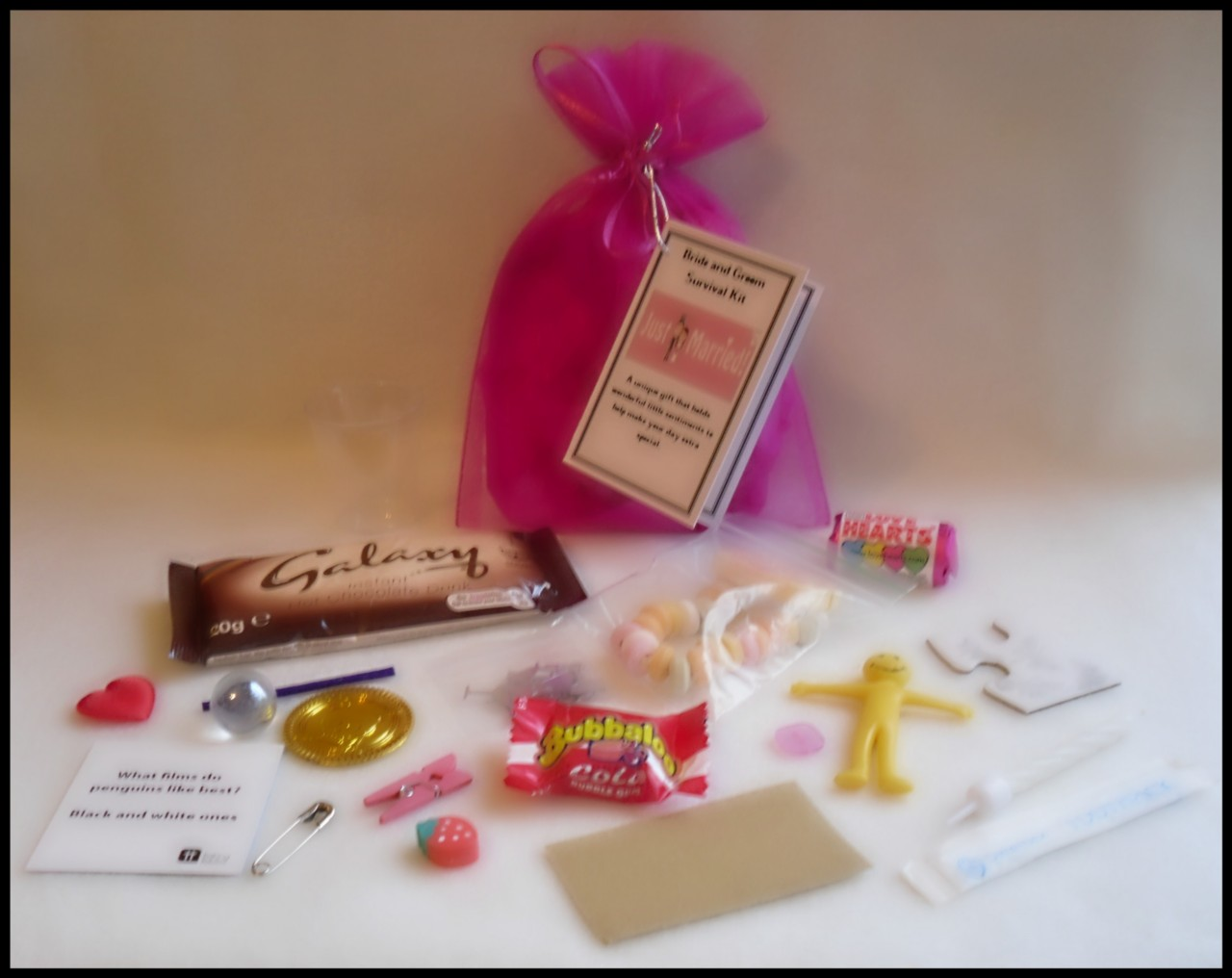 Quirky Wedding Gifts Uk: Bride And Groom Novelty Survival Kit. An Unusual Wedding
